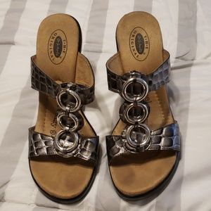 Wedge slip on sandal